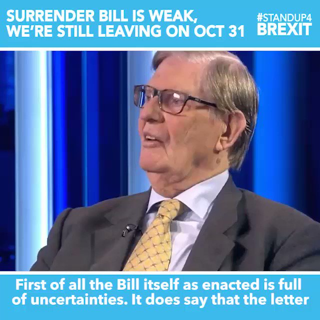 """""""The Bill itself as enacted is full of uncertainties. It does say that the letter must be sent, but the reality is that inside the other sections it quite clearly states that there are conditions which are not capable of being performed"""" @BillCashMP #StandUp4Brexit"""