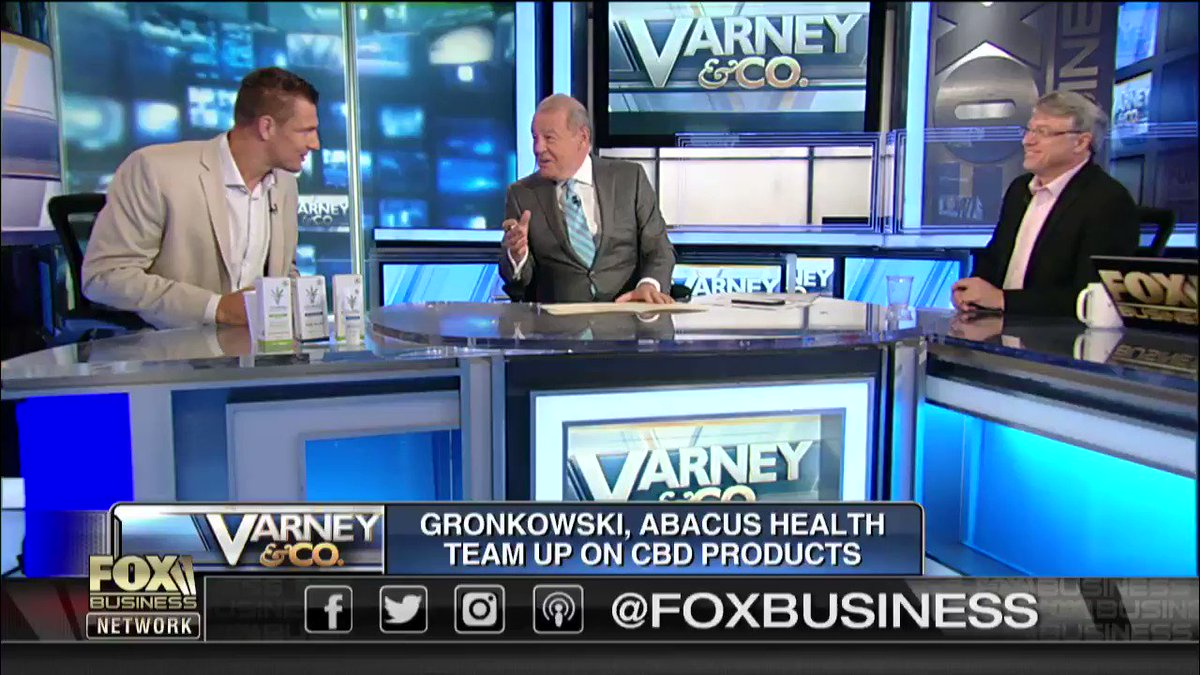 "Stu was joined by former #Patriots tight end @RobGronkowski to discuss his #CBD business venture and how #NFL rules may change in the future. ""I'm still going to get those aches, and yes, I put that on and it gives me that relief."" #Health #Wellness #VarneyCo"