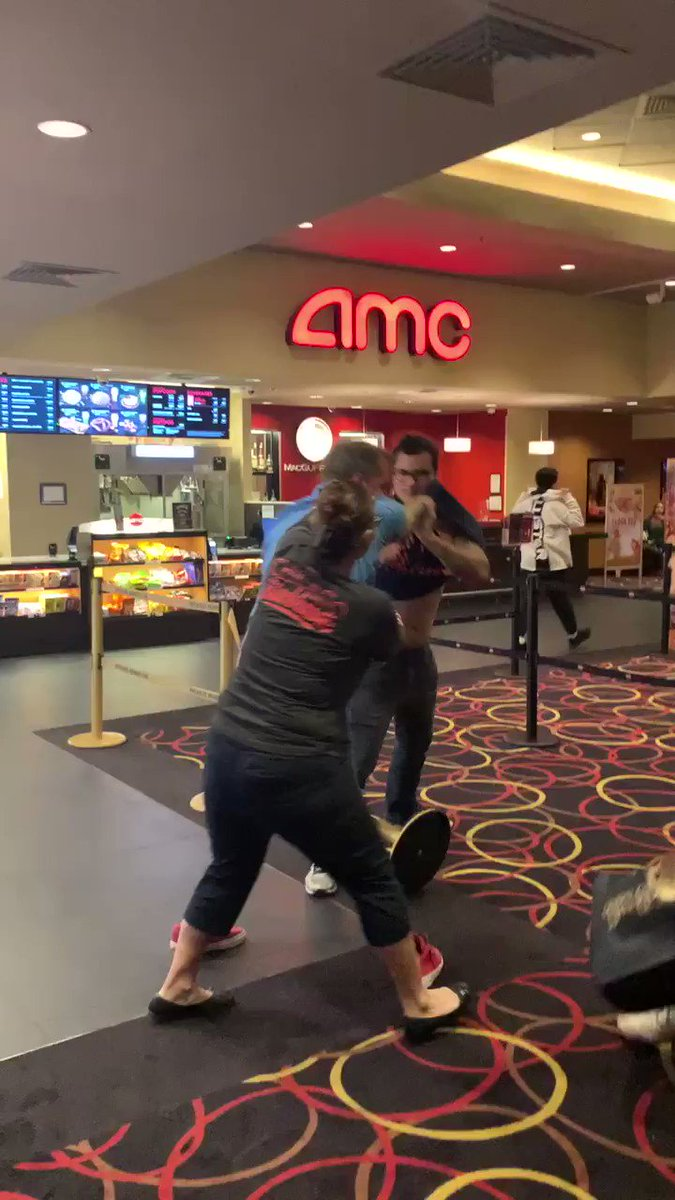 Insane Fight At A Movie Theater Goes Viral. The Video Is Mind-Boggling