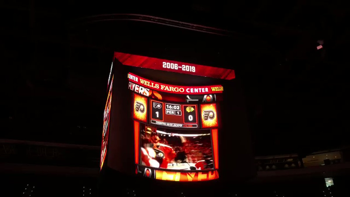 Wells Fargo Center Scoreboard 🔥