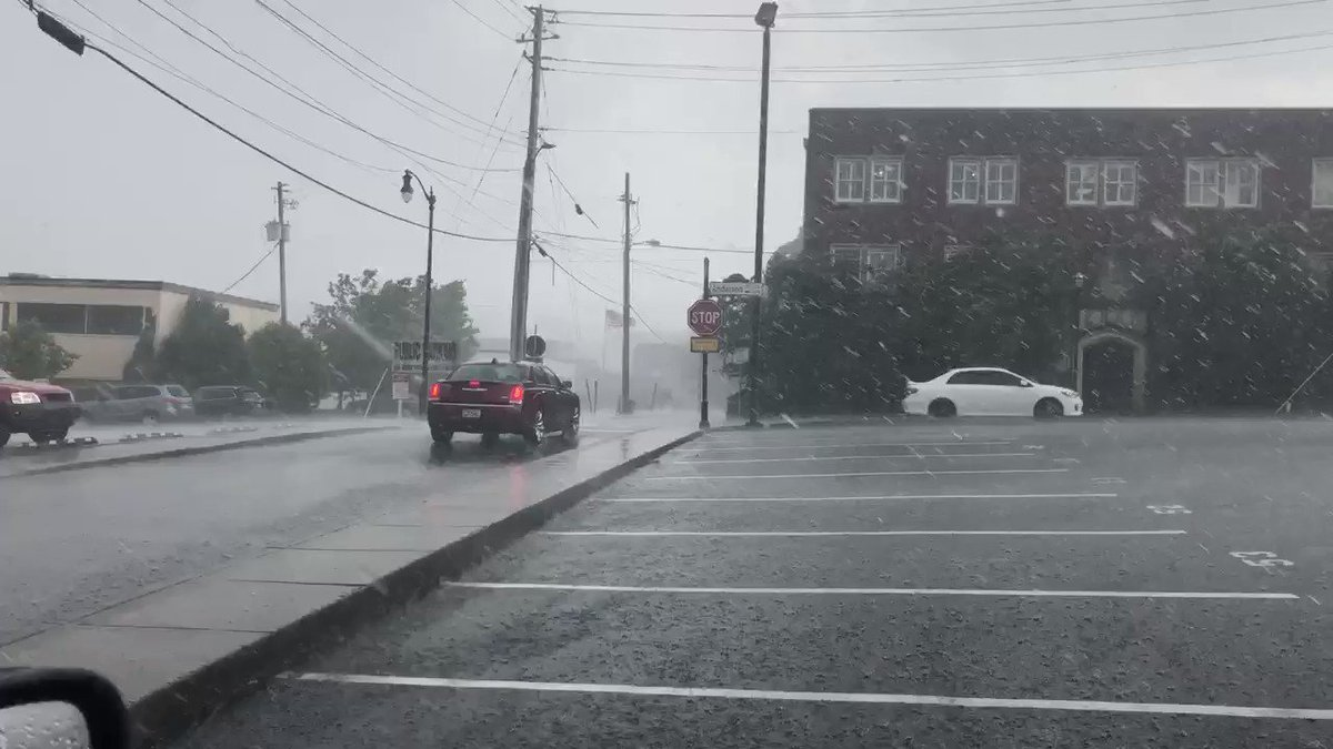 The wind is whipping here in Marietta and we just heard a loud pop of lightning. Be careful getting home!