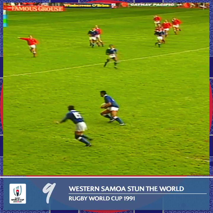 @LynaghMichael 9️⃣ The original Rugby World Cup upset. Western Samoa shock the world as they beat hosts Wales at #RWC1991