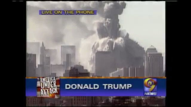 Trump bragging that he now had the tallest building in New York the day the twin towers fell 18 years ago..