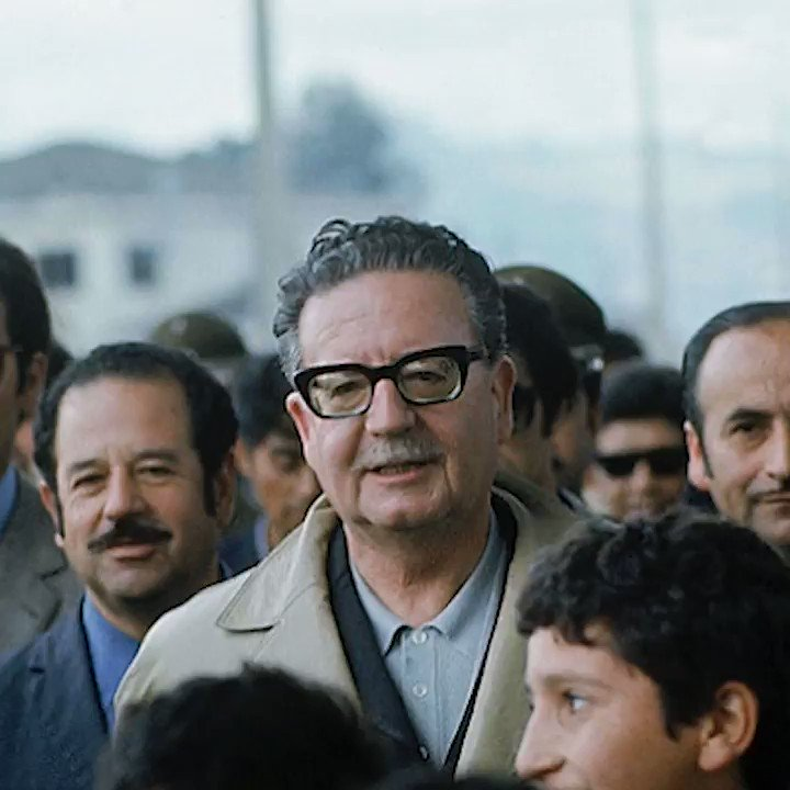 """""""Long live the workers! These are my last words. My sacrifice will not be in vain"""" – Salvador Allende, President of Chile, hours before his death #OnThisDay in 1973.Thousands more socialists were murdered as a military junta took power, and decades of brutal dictatorship began."""