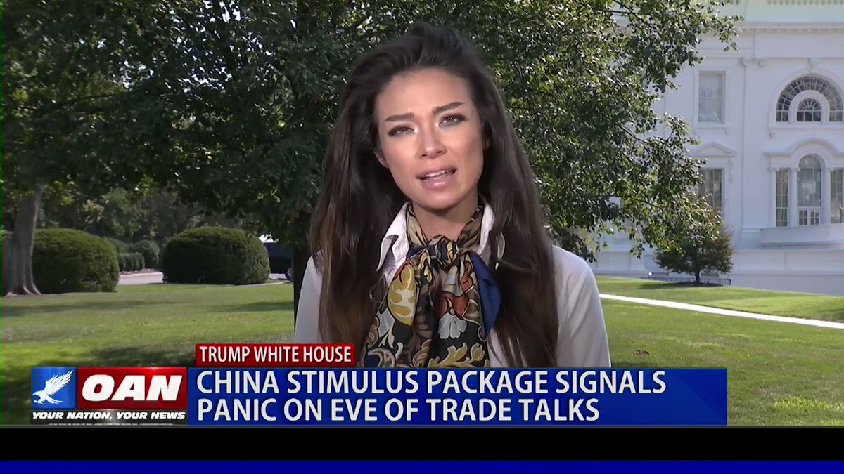 NARRATIVE: China Trade Talks are a Fiasco.  REALITY: China is Panicking. Evidence abounds.  ✅China enacts 3rd and largest stimulus in 9 months ✅China Banks suspending interest for 1yr (hiding bad loans) ✅Manufacturer Exodus  WATCH @OANN: http://shorturl.at/kmnu4  @WhiteHouse