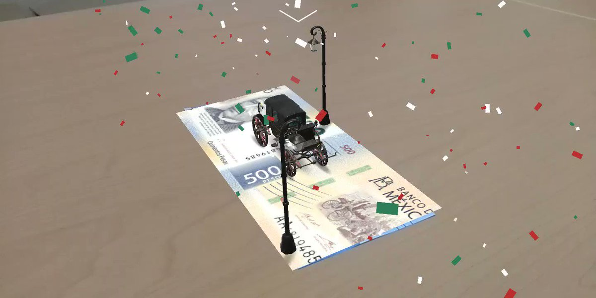 En México ya circulan billetes con realidad aumentada y aquí te mostramos un corto video hecho por uno de nuestros colaboradores para que veas cómo luce #mexico #billetesconAR ¿ya habías visto estos billetes?