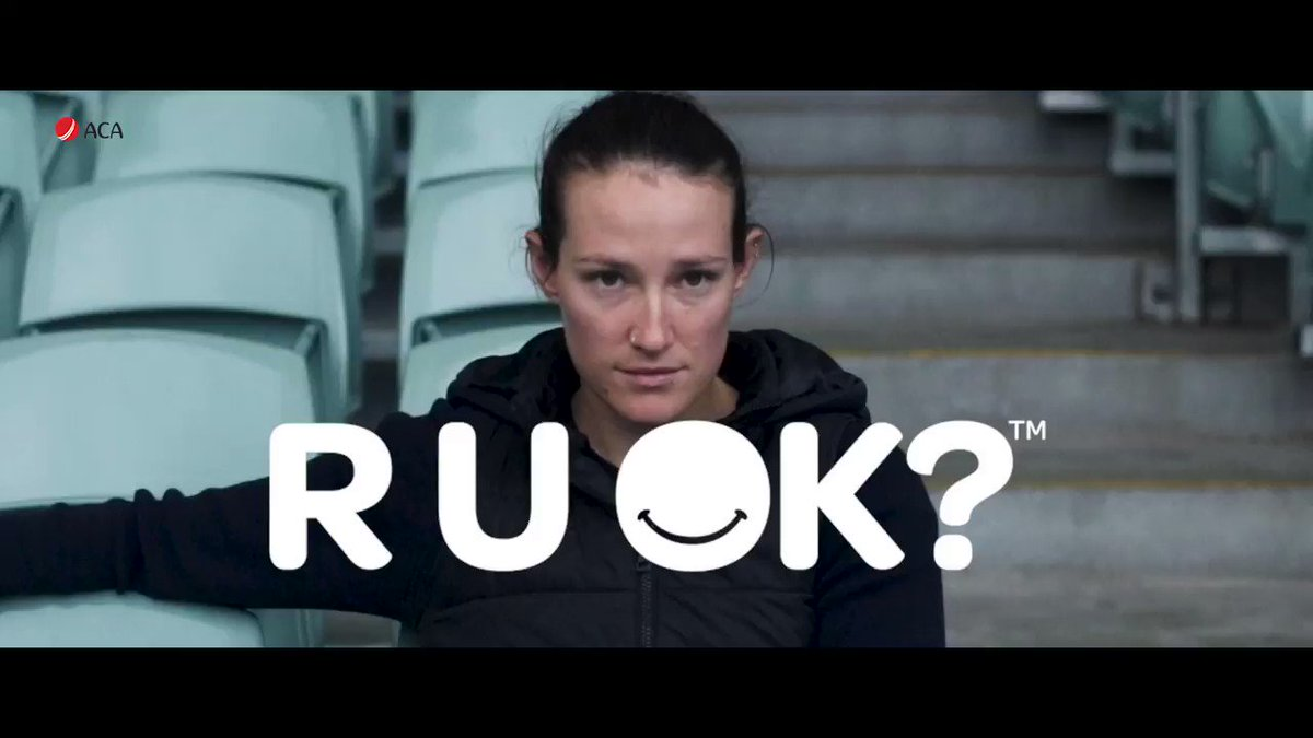 """Something as simple as asking R U OK?, can make a huge difference."""" 💛 Today is @ruokday - which reminds us to have meaningful conversations with those around us, and also a time to check in with ourselves @megan_schutt"""