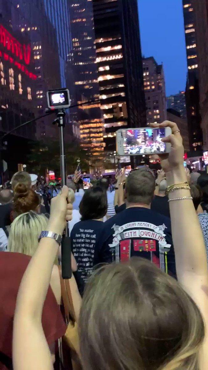 Ground zero tonight. Amazing unity.