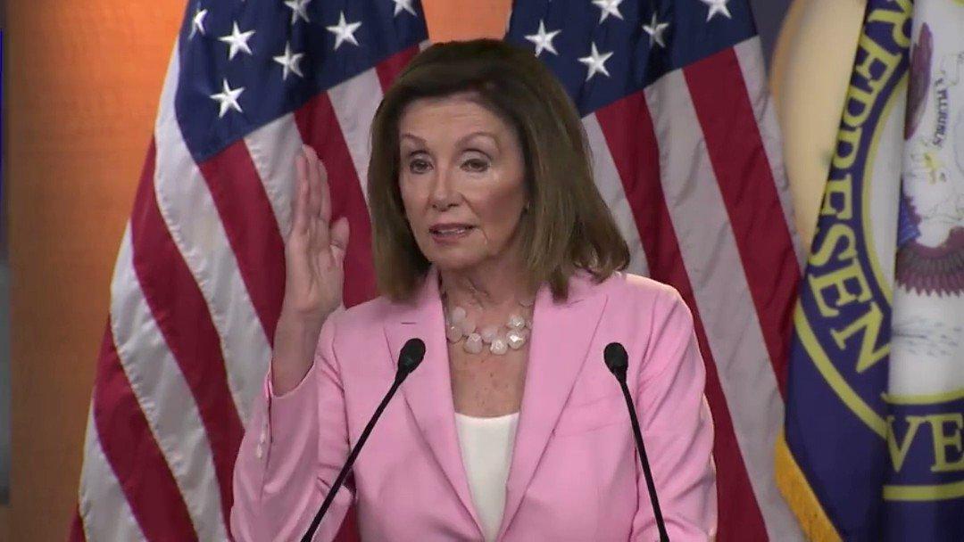 Nancy Pelosi on Trump's impeachment.