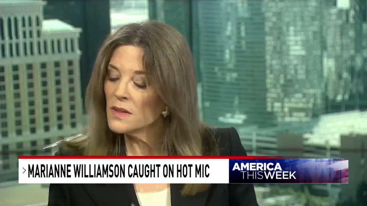 ".@marwilliamson: ""What does it say that the conservatives are nicer to me? I'm a serious lefty but they are so — I understand why people on the right called them godless — I mean, it's like, I didn't think the left was as mean as the right, they are."""