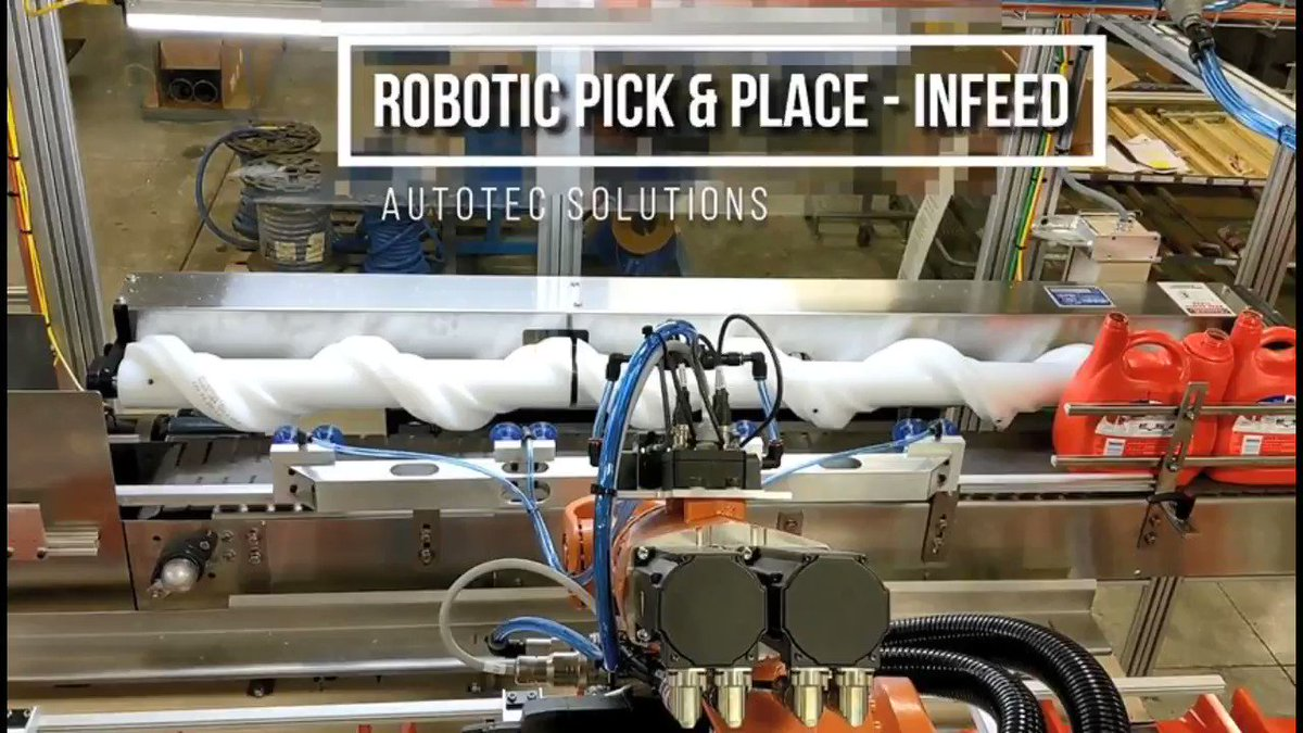 Image for the Tweet beginning: Robotic Pick & Place-Infeed: Autotec