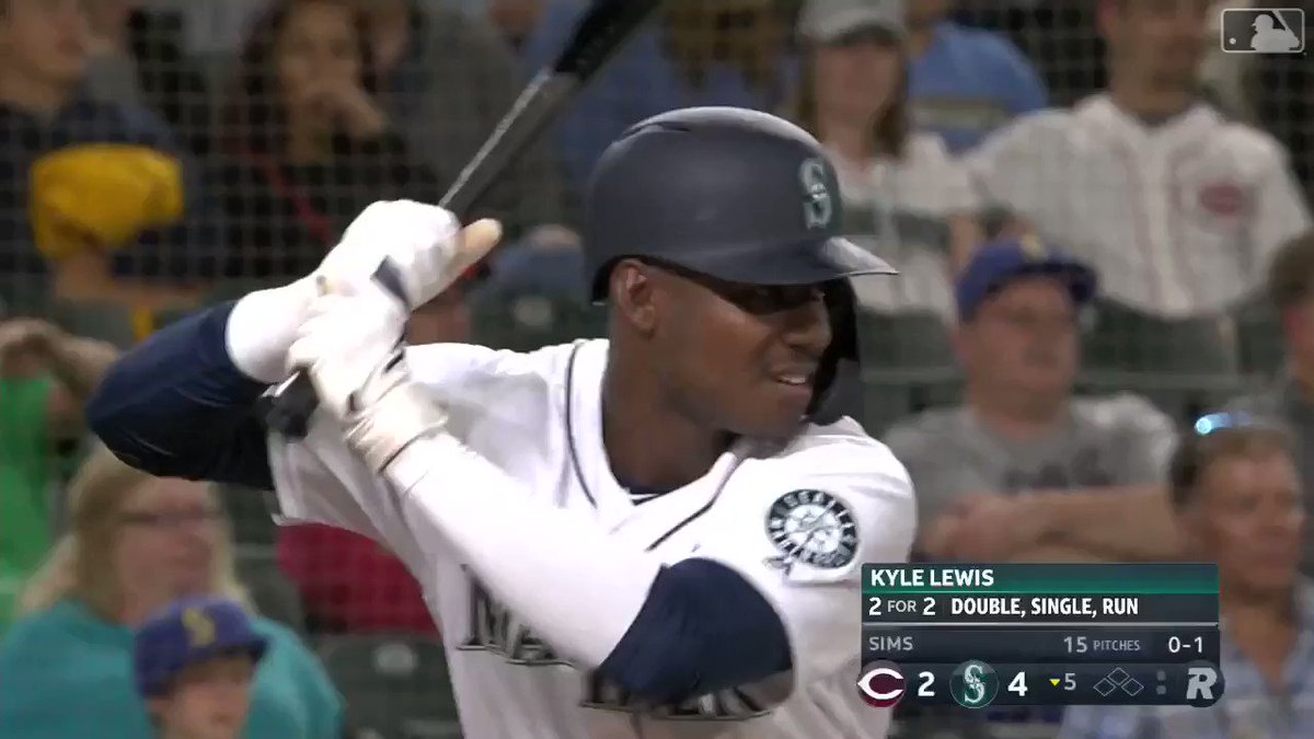Kyle Lewis has played in three MLB games and has homered in each of them 🔥