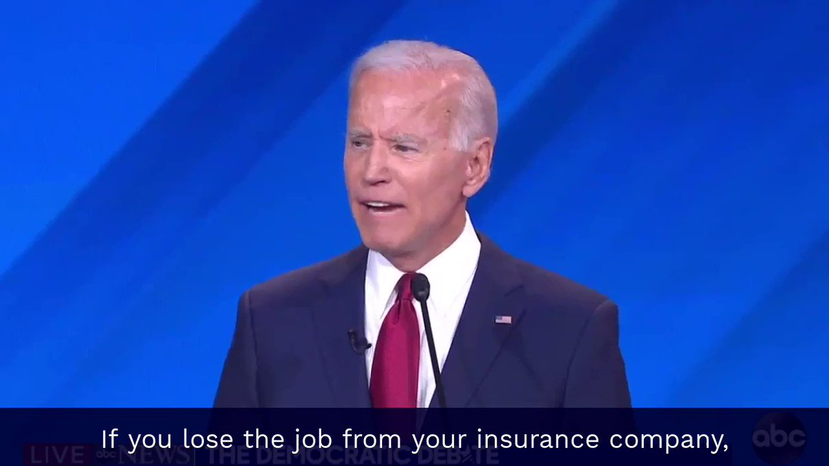 """Biden: """"you automatically can buy into this"""" @JulianCastro: """"Obama's vision was not to leave 10 million people uncovered"""" Biden: """"they do not have to buy in"""" The VP changed his position on stage. This is a major health care policy difference."""