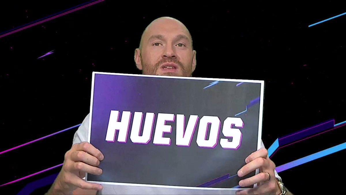 ¡Momento de las clases de español! Y parece que @Tyson_Fury aprobó. 😁😂😁@ESPNBoxeo @trboxing#BOXEOxESPN 🥊#tysonfury #furywallin #mexico #idependenciademexico