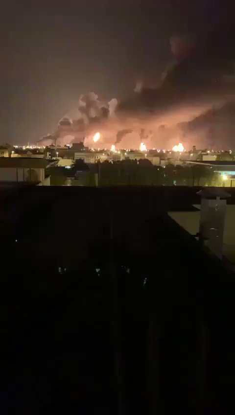 Footage of the fires