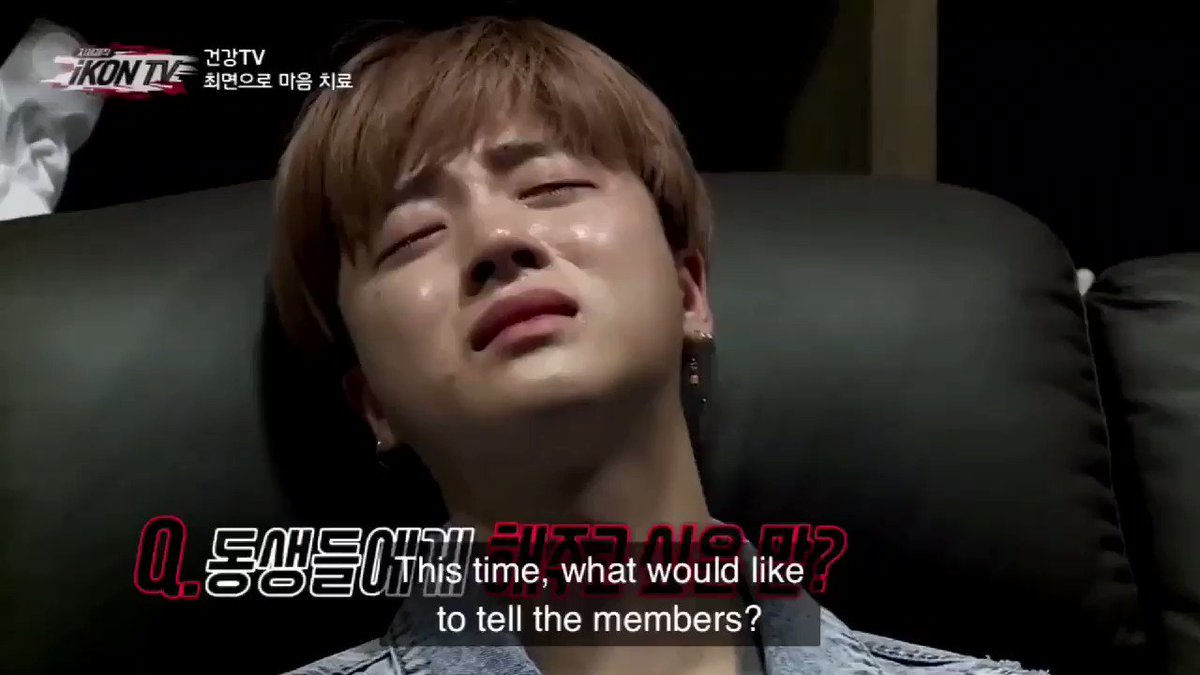 """Guys... I'll be there, standing up for you."" -Jinhwan#ThankYouJINHWAN for being iKON's pillar & foundation❣️"