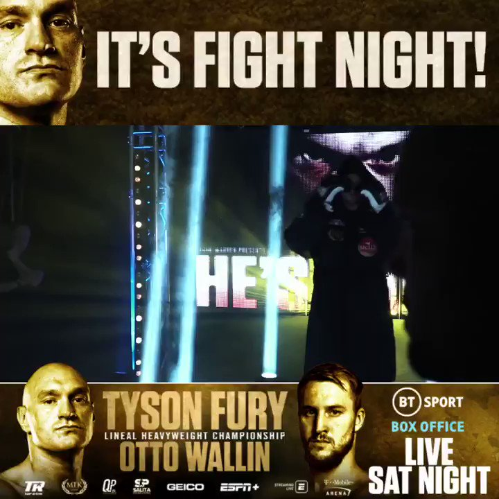 This is @Tyson_Fury's world. We just live in it.The number one heavyweight on the planet returns tonight 😎#FuryWallin