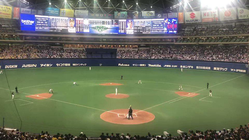 #大野雄大 投手ノーヒットノーラン達成の瞬間です!