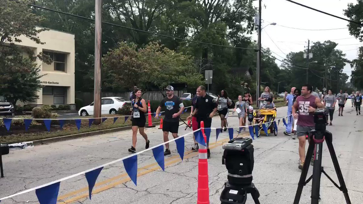 Officer Matt Cooper just finished his mile!