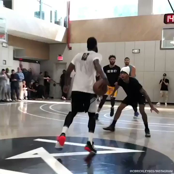 Melo, Harden, Danny Green, Kelly Oubre and more went at it 🍿 (via @Cbrickley603)