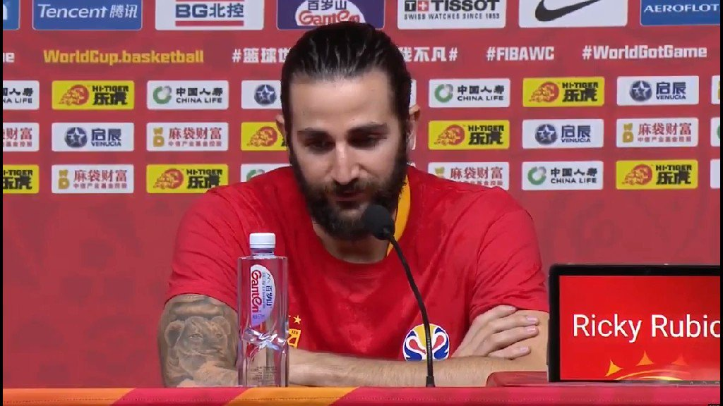 """Ricky Rubio: """"I lost my mom three years ago. She was behind me and pushing me every day to get the best out of me. I know there's nobody in this world who loved me more than her. She's still driving me every day. Even if she's not here, I feel it.""""  #FIBAWC"""