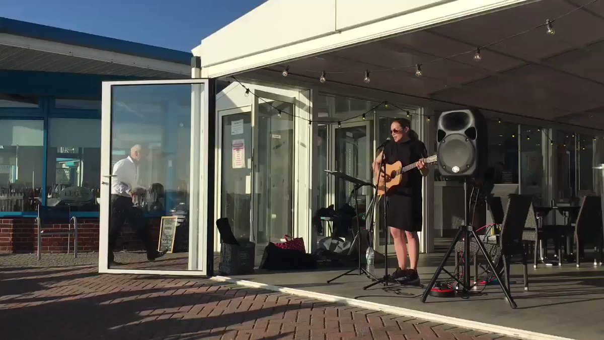 Brilliant performance of #shallow at Leon's. I never thought I'd get my #ladyGaga fix in Lee on Solent. Singer is Chloe Rice