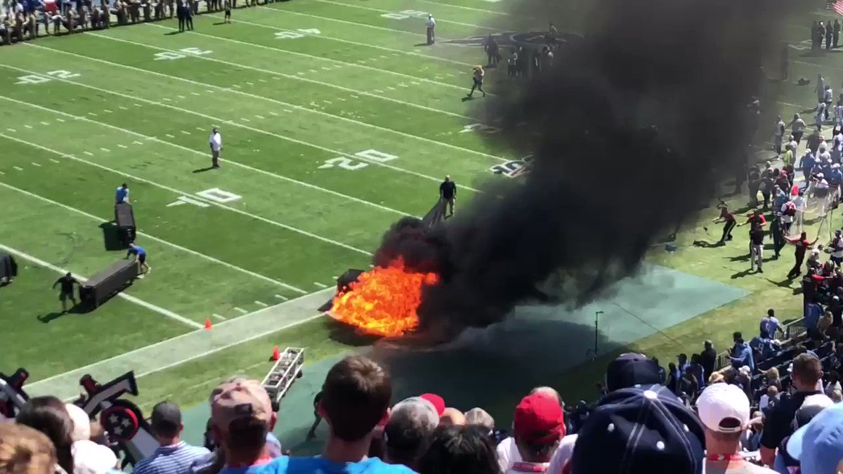 Massive Fire Breaks Out At NFL Game. The Video Is Unbelievable
