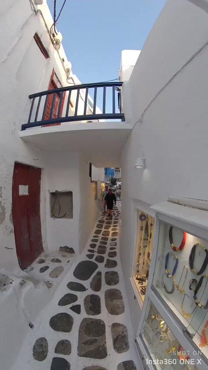 ミコノス島で裏路地を通ってみた動画。#ミコノス島 #Mykonos