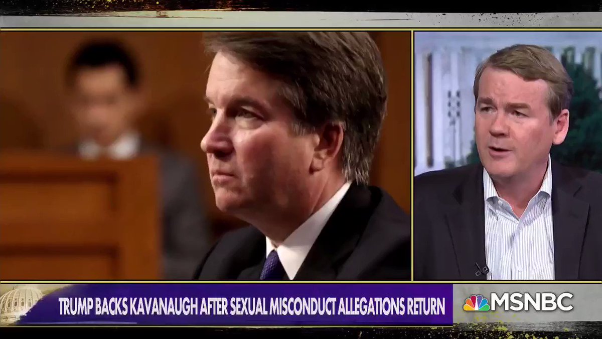 """I don't believe he should have been on the court to begin with, I voted against him, but I do think we need to have due process here."" - @SenatorBennet on calls to impeach Supreme Court Justice Kavanaugh https://t.co/r2bQVd5b3A"