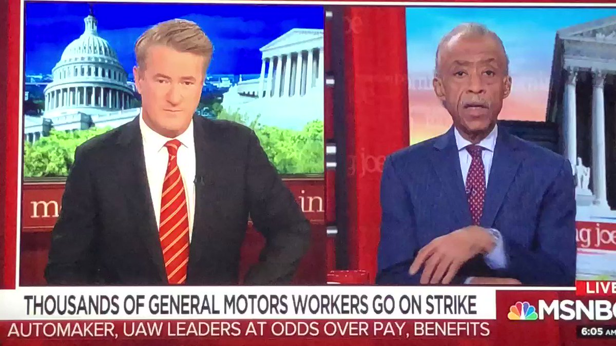 Thousands of General Motors workers have gone on strike, I am sharing my thoughts on MSNBC's #MorningJoe. https://t.co/V9G0htEL1g
