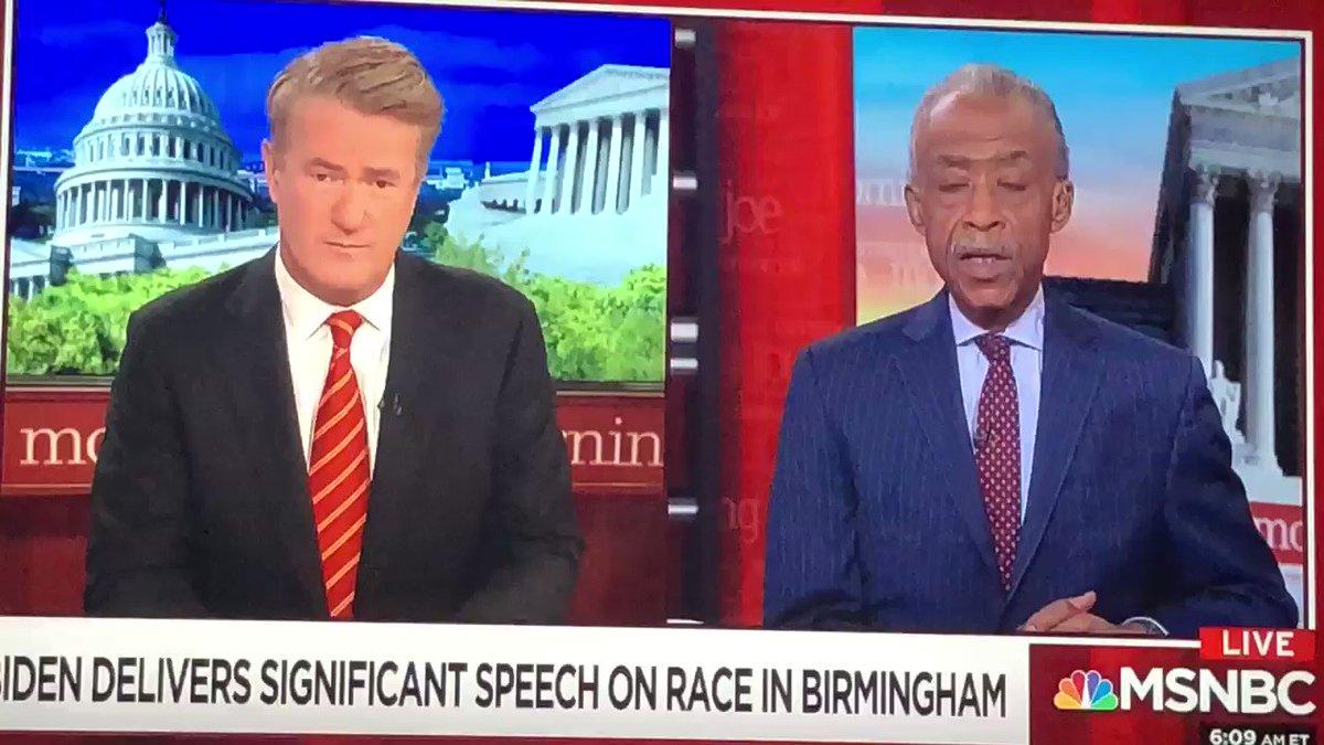 Currently discussing Joe Biden's recent speech in Birmingham, Alabama about race. #MorningJoe https://t.co/UaBcYCdi7f
