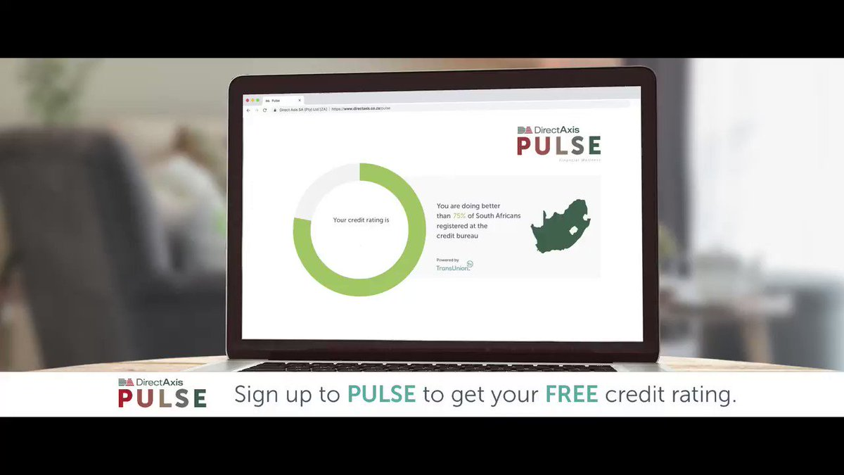 A good credit rating can get you the best interest rate. Know yours & how to improve it for FREE. directaxis.co.za/pulse