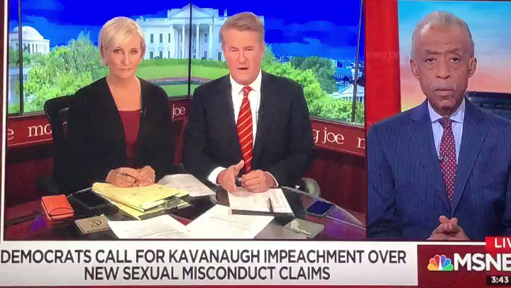 Discussing the renewed calls for Brett Kavanaugh's impeachment because of new sexual misconduct claims. #MorningJoe https://t.co/qFGf5CaLK3