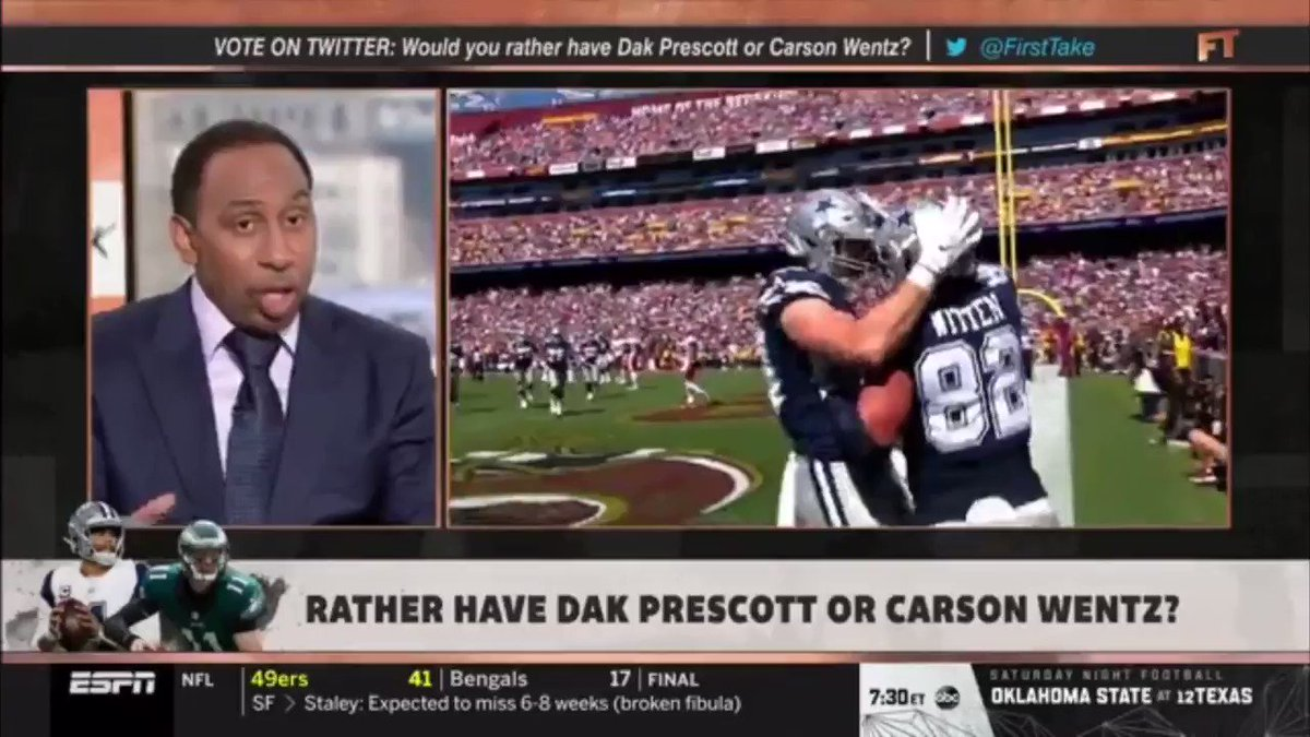 NFL: Stephen A. Smith made another error while talking about Cowboys