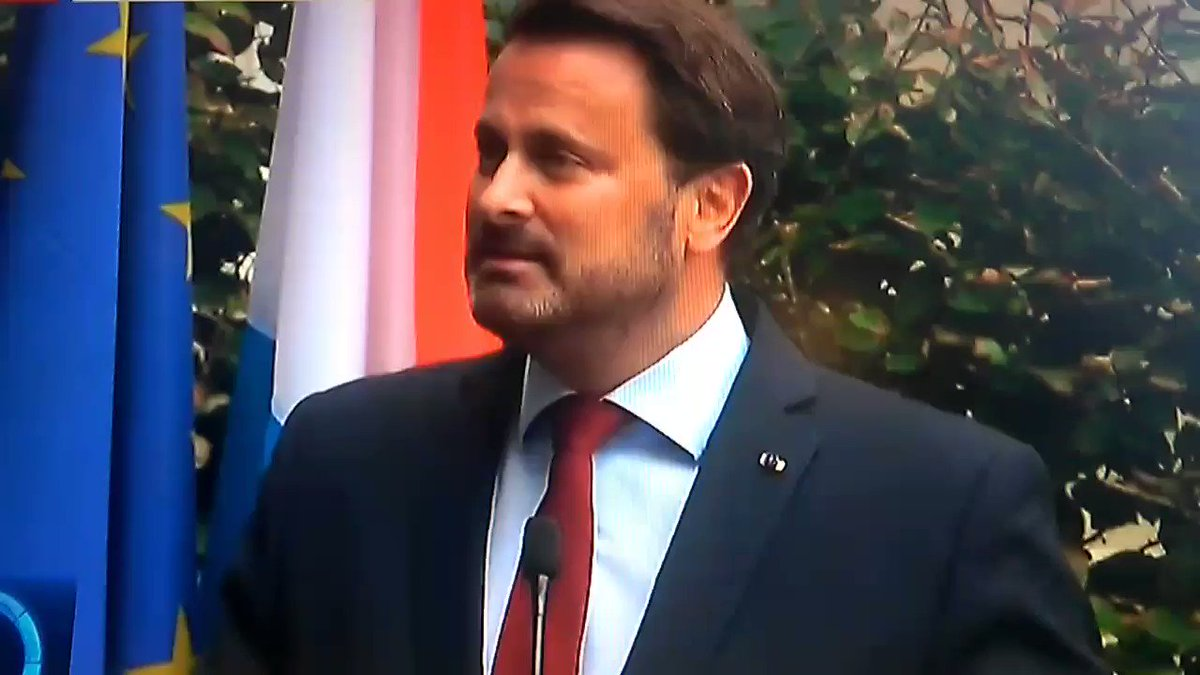 """What the Luxembourg PM said that you won't see on the BBC: """"This is a lie. You tried to win votes with lies Xavier Bettel slams Boris Johnson's Brexit campaign. #StopBrexit #Remain"""