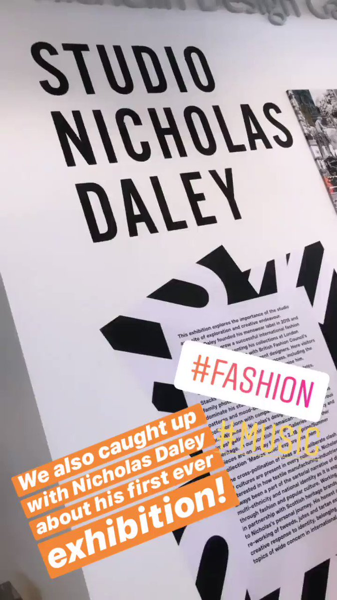 Now we are chatting about #fashiondesigner Nicholas Daley who has roots here in #Dundee - so it makes sense his first ever exhibition would be here at the @VADundee! Here is a wee peak...