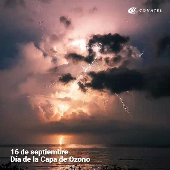 Venezuela celebra el Día Mundial de la Capa de Ozono mostrando el Relámpago del Catatumbo, fenómeno meteorológico cuyas tormentas eléctricas producen una elevada cantidad de ozono a la atmósfera #FelizLunes #AClasesConAlegria #16sep @Conatel