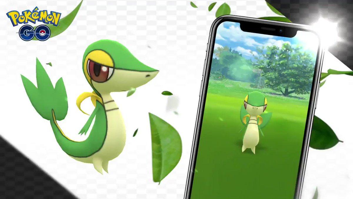 🍃🐍🍃 Snivy, the Grass Snake Pokémon, has arrived in the world of Pokémon GO! 🍃🐍🍃