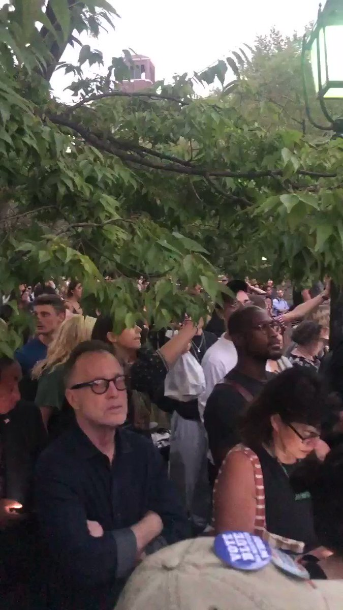 Image for the Tweet beginning: Washington Square Park is packed