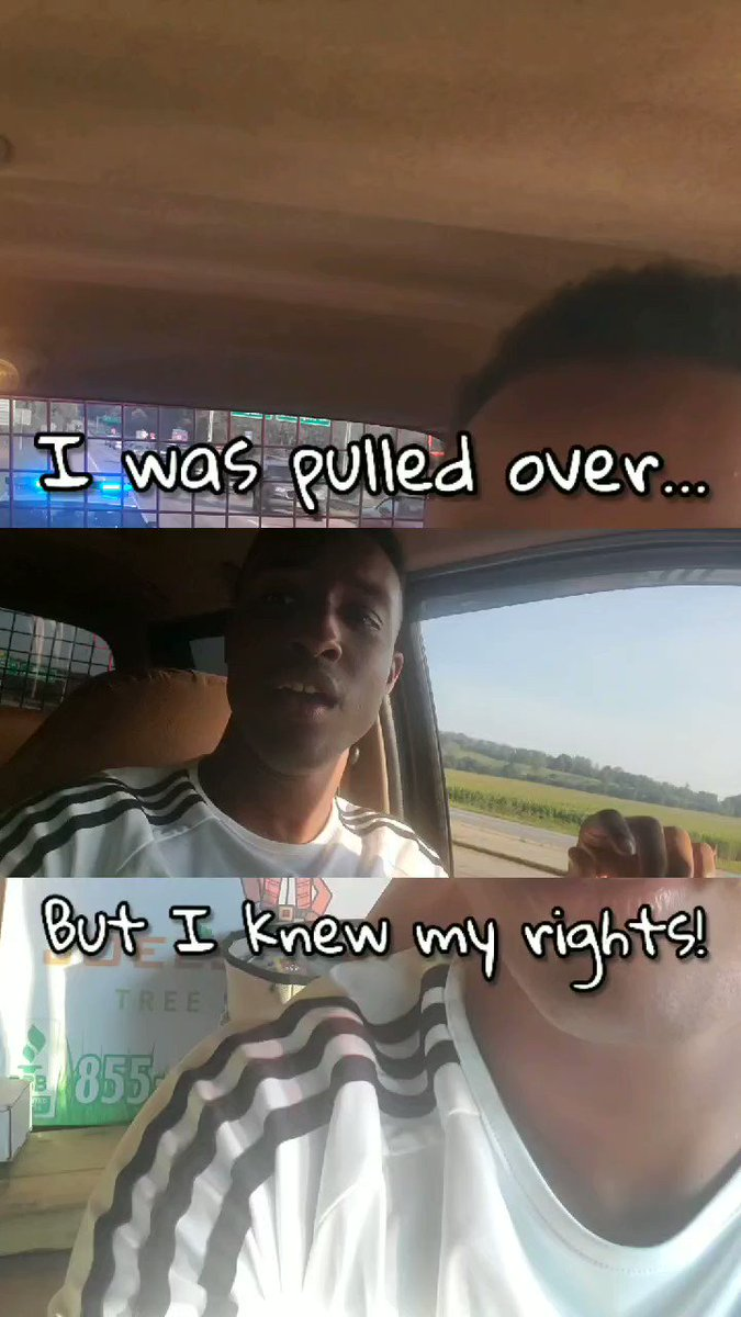 I was pulled over...