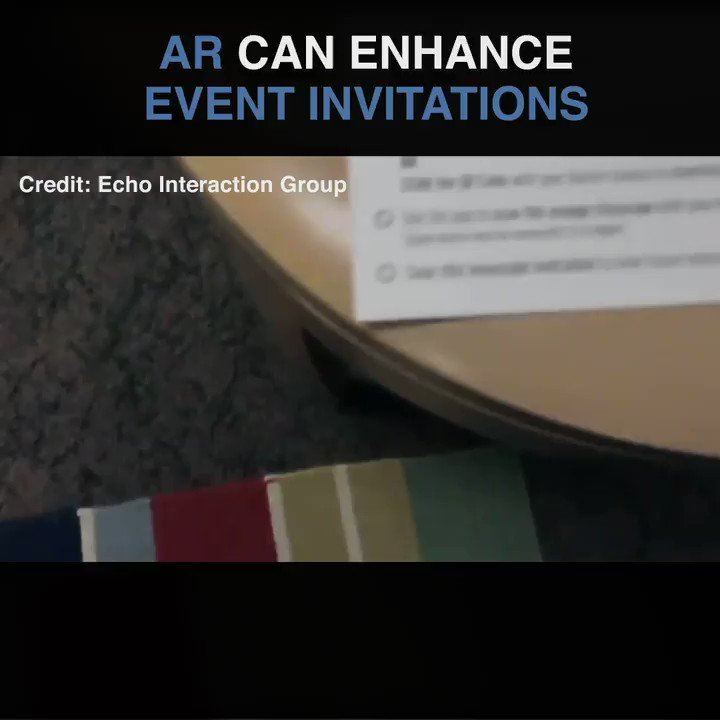 How event invites can be enhanced by AR 😎🔥Credit: Echo Interaction Group#AugmentedReality #VirtualReality #MixedReality #AR #VR #XR