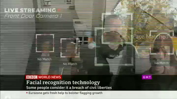 Face surveillance is being used by police and private companies across the UK. Its intrusive and authoritarian, and doesnt belong in a democracy. The public dont want to live in a police state. Ban live facial recognition. - @g__ferris on @BBCWorld