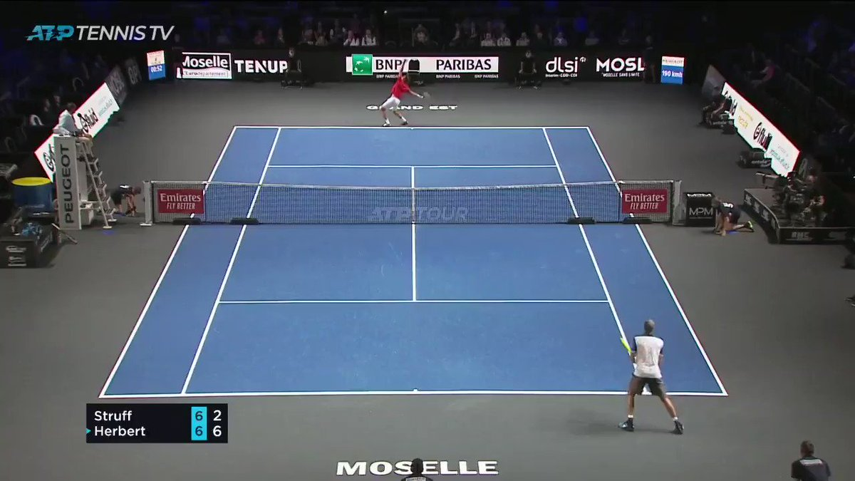 Image for the Tweet beginning: Impressive Struff 😮  Watch the @MoselleOpen