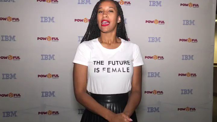 """#PowHERfulIS ... """"Knowing your worth and using that to do good!"""" Wise words from @shebaturk #WhenSheLeads"""