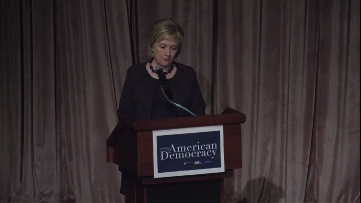 """Hillary: """"I was the first person who ran for president in more than 50 years without the protection of the Voting Rights Act, and let me just say, it makes a difference."""""""