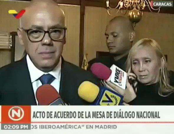 📢¡𝐀𝐬í 𝐥𝐨 𝐃𝐢𝐣𝐨!🇻🇪 #EnVideo📹| Min @jorgerpsuv: Este es un gran paso para la consolidación de la paz de Venezuela; es un avance, una puerta abierta para que a través de una mesa de diálogo nacional se resuelva las controversias. #DiálogoPorLaPaz