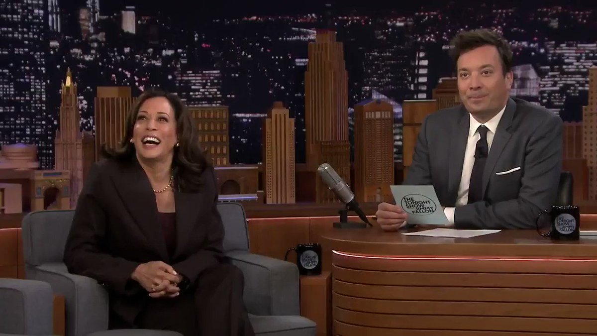A dudebro in the Fallon audience tried it with Kamala on guns and she left him hyperventilating and picking up the tattered pieces of his greasy wig off the floor.