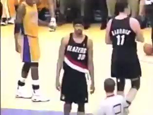 Happy birthday to Rasheed Wallace! The officials hated him so much, he got T d up for staring. Legend.