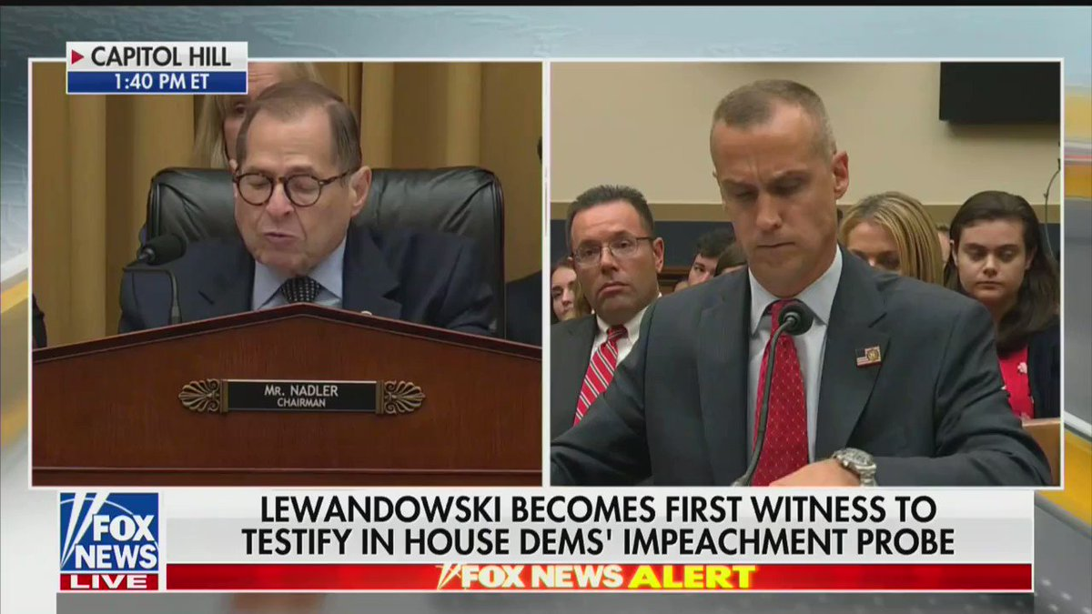 Impeachment Hearing Quickly Devolves Into Chaos As Lewandowski Trolls And Refuses To Answer Questions