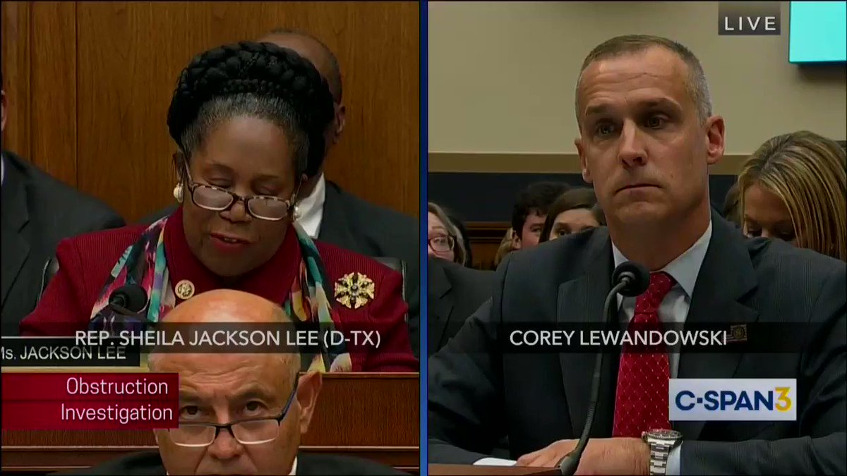 Corey Lewandowski is without a doubt one of the most disrespectful pieces of shit to ever sit in the halls of Congress. And that's really saying something.